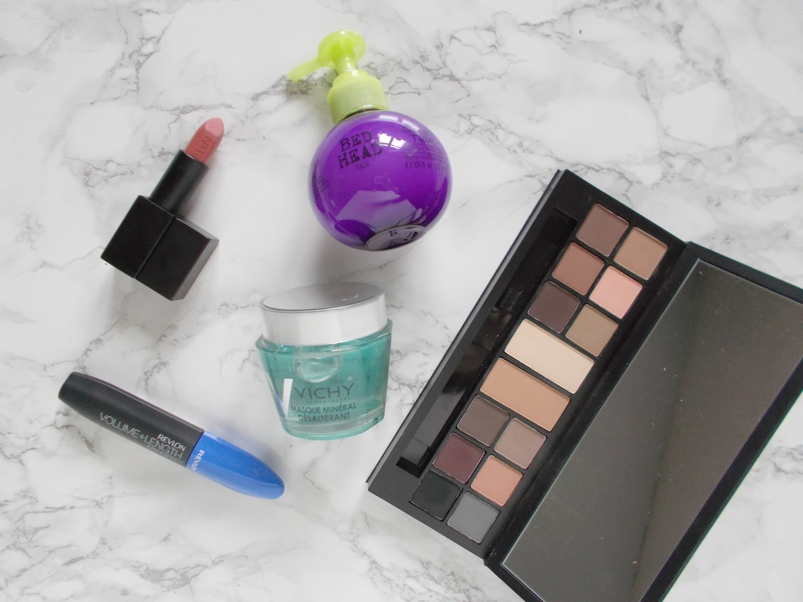 five things im loving smashbox bed head revlon vichy nars