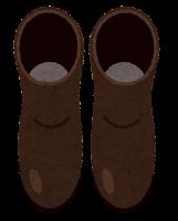 上から見た靴のイラスト(ロングブーツ)