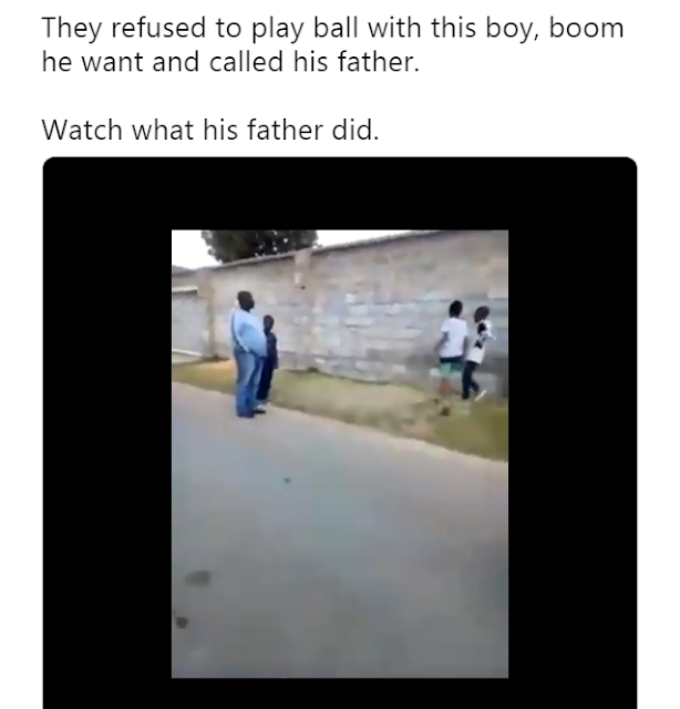 Father And Son Beat Up Young Boys Who Hindered His Son From Playing Ball