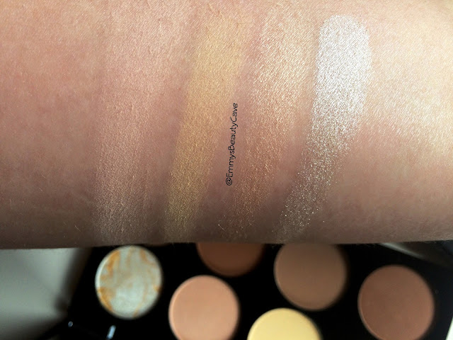 Makeup Revolution Ultra Contour Palette Swatches