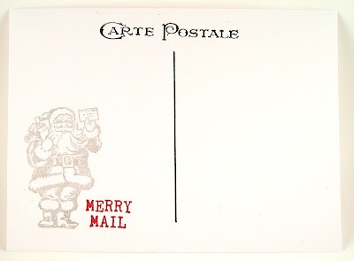 Darkroom Door Rubber Stamps Merry Mail Christmas Reindeer Postcard