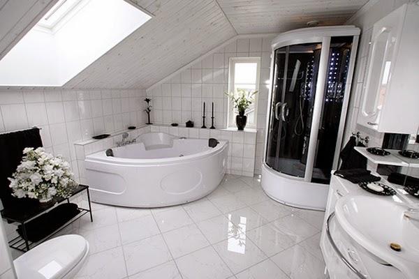 cuarto de baño blanco