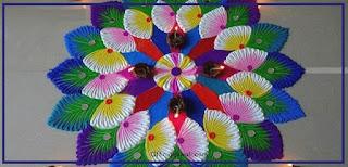 दिवाली के लिए सुंदर रंगोली डिजाइन