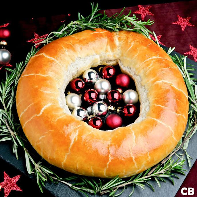 Kerstkrans gevuld met pittig Limburgs gehakt