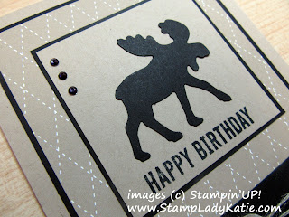 Masculine Birthday Card made with Stampin'UP!'s Moose Punch