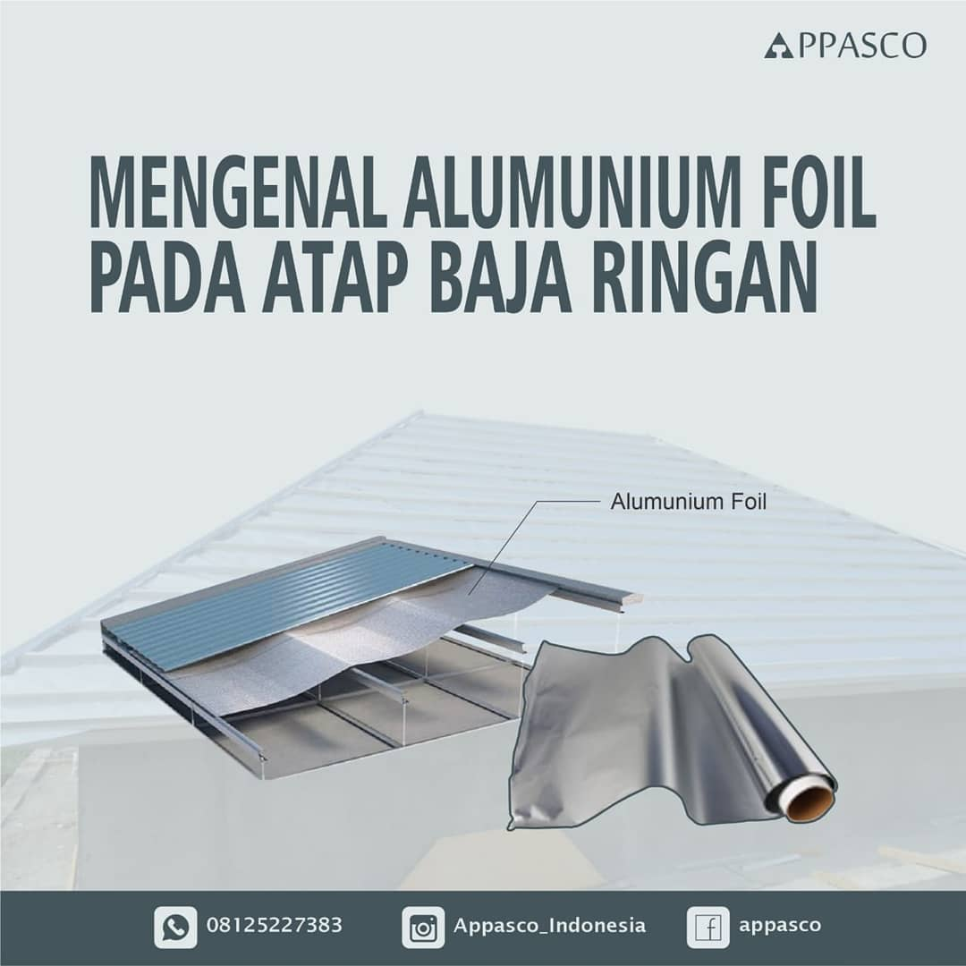 Aluminium Foil Pada Atap Baja Ringan