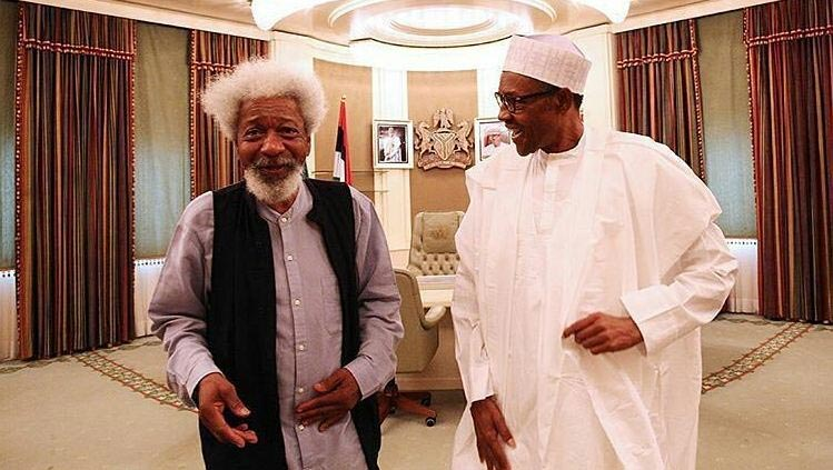 President Buhari and Wole Soyinka pictured after closed-door meeting in Aso Rock