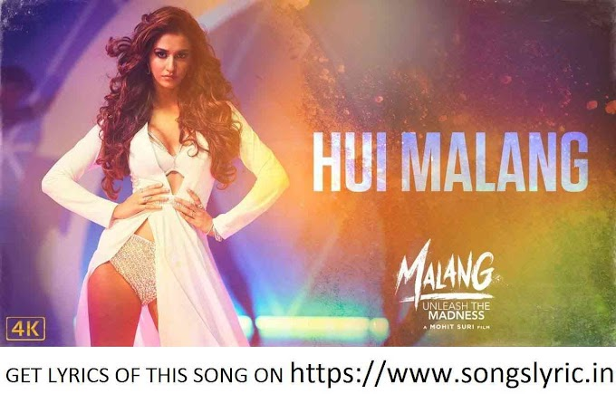 Hui Malang lyrics | MALANG | Aditya R K, Disha P, Anil K, Kunal K | Asees K