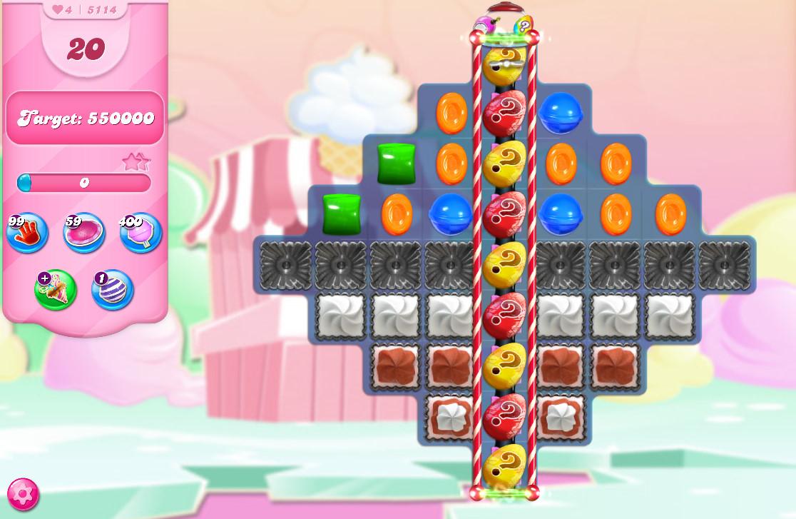 Candy Crush Saga level 5114