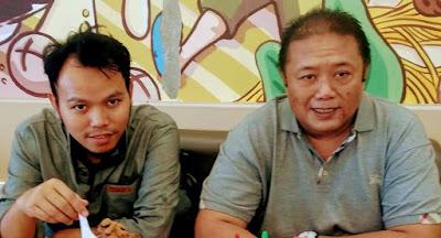 Direktur Mi6, Bambang Mei Finarwanto SH didampingi Kepala Litbang Mi6 , Zainul Pahmi