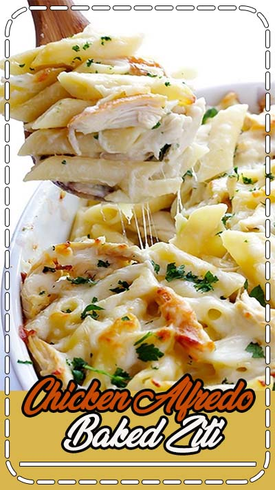 This Chicken Alfredo Baked Ziti recipe is made with a lightened-up alfredo sauce, and is always so comforting and delicious. See notes above for possible ingredient variations.