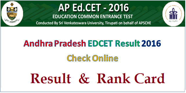 AP Ed.CET Result Rank Card