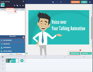 Audio settings for GoAnimate Talking Animation
