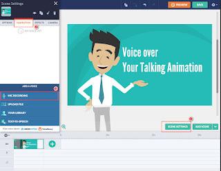 Audio settings for GoAnimate Talking Animation