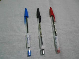 canetas e hidrocor