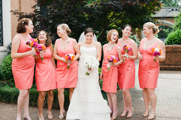 Bright Coloured Bridesmaid Dresses: Chic Bridesmaid Dress: Coral Bridesmaid Dresses