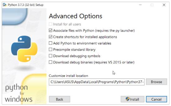 تثبيت Python على جهاز الكمبيوتر الخاص بك