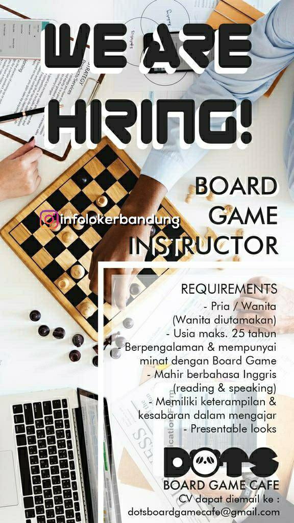 Lowongan Kerja DOTS Board Game Cafe Bandung Oktober 2018