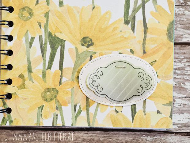 stampin up gänseblümchen notizbuch cinch bastelritter papier turnier