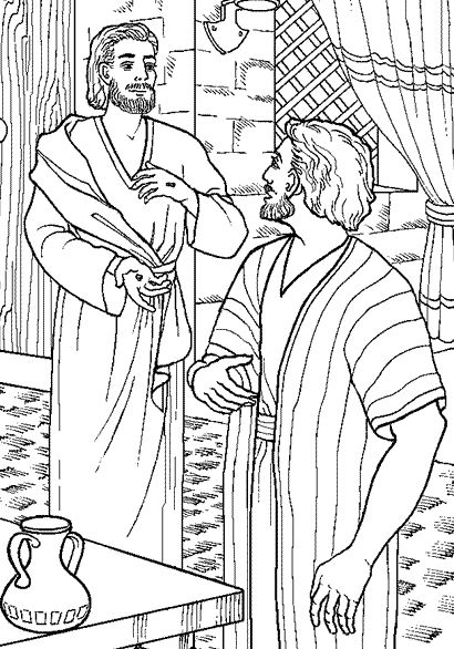 Pin Doubting Thomas Coloring Page on Pinterest