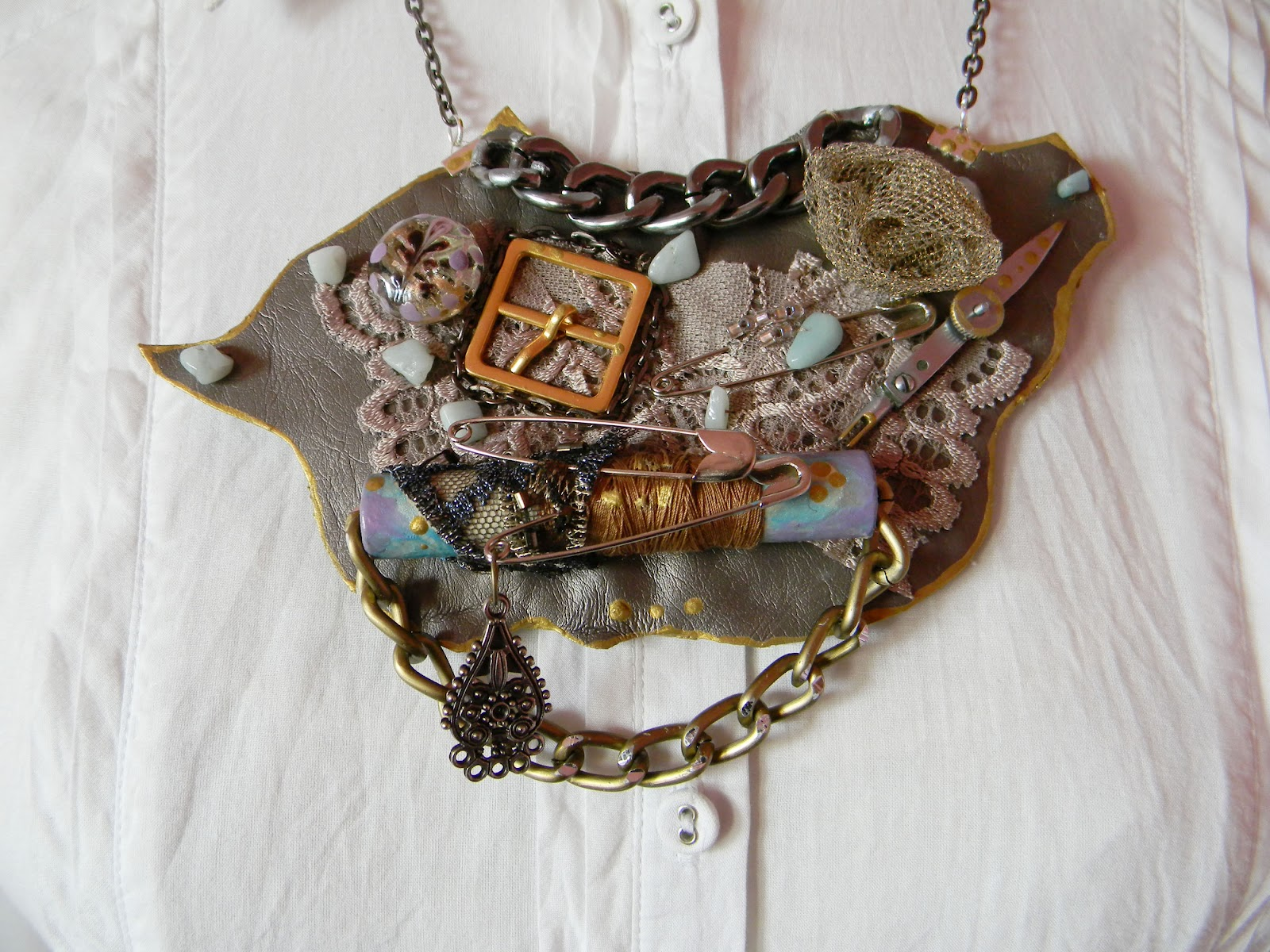Statement/Steampunk Necklace by Lavart