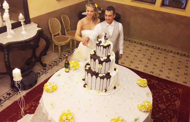 allestimento tavolo torta matrimonio