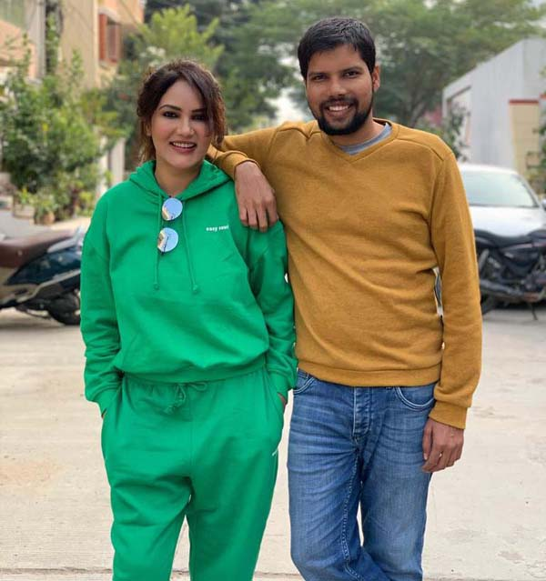 Rajesh aka Kamna Pathak from show Happu Ki Ultan Paltan with her brother