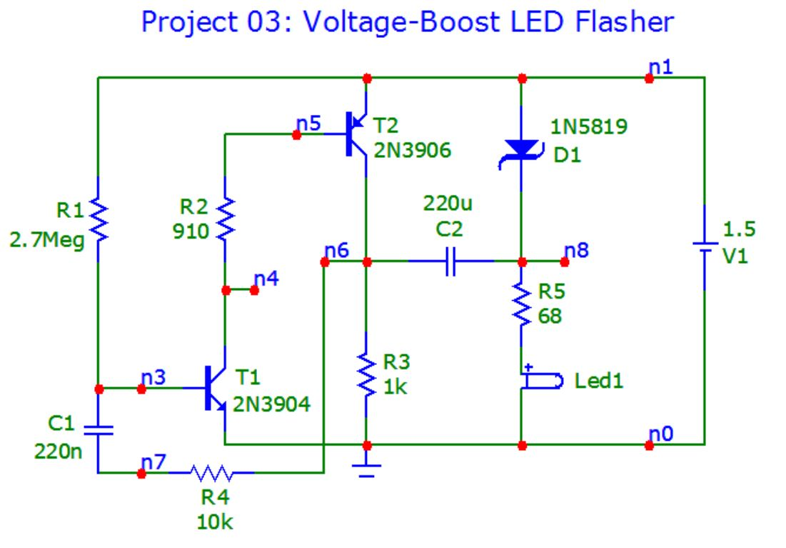 Transistorize Me 2015 12 Volt Led Flasher Circuit Click For Details Schematic On The Image To See A Larger Version