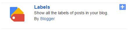 widget label blogger