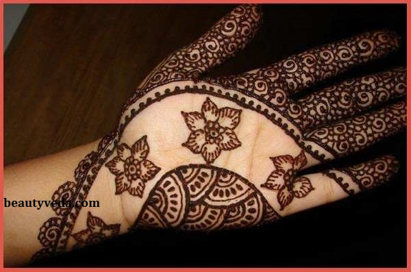 Simple And Easy Mehendi Designs For Palm