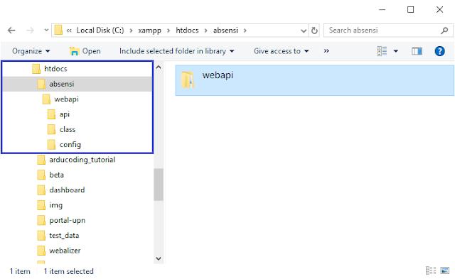 mesin absensi nodeMCU database MySQL