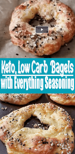 The Best #Keto #LowCarb #Bagels with Everything Seasoning