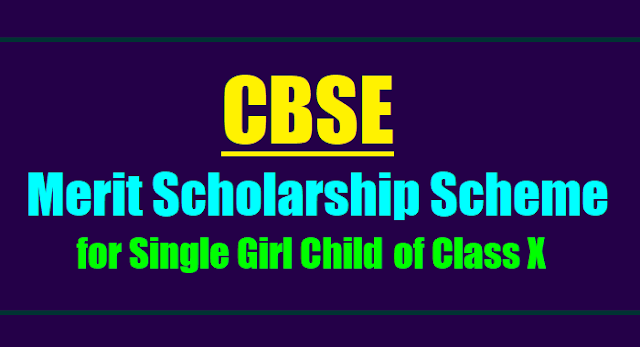 cbse merit scholarship for single girl child class x  2017,cbse single girl child scholarship application form 2017,cbse merit scholarship scheme