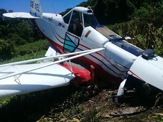 Desploma avioneta  en Pichucalco