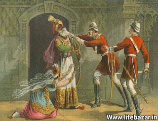 बहादुर शाह जफर का जीवनी। bahadur shah zafar life history in hindi