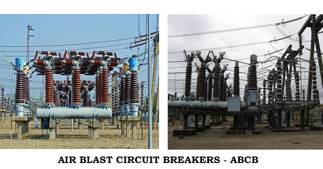 air blast circuit breakers, abcb, air blast circuit breaker diagram, what is air blast circuit breaker, types of breakers @electrical2z