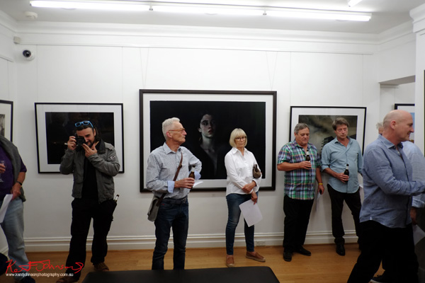 Opening night, Click! 2016 Photography Exhibition at Badger & Fox Gallery.
