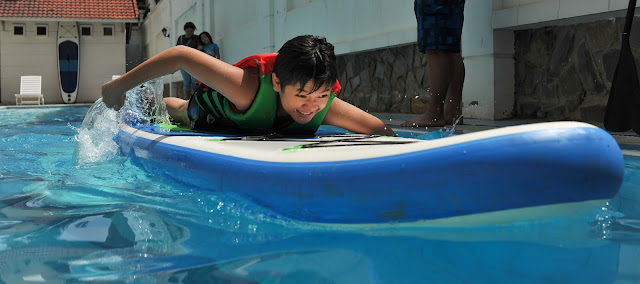 SUP training in swimming pool 2021