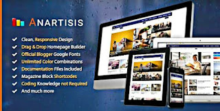 Anartisis Blogger Template freed  Download |