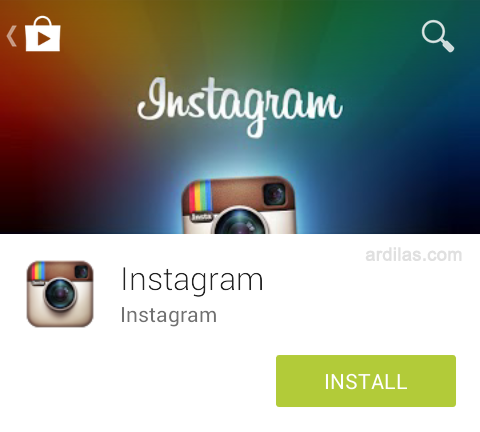 tombol install - Cara Download & Install Aplikasi Instagram - Android