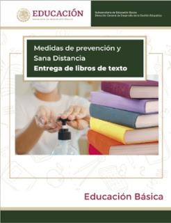 Medidas de prevención y Sana Distancia - Entrega de Libros de Texto Gratuitos