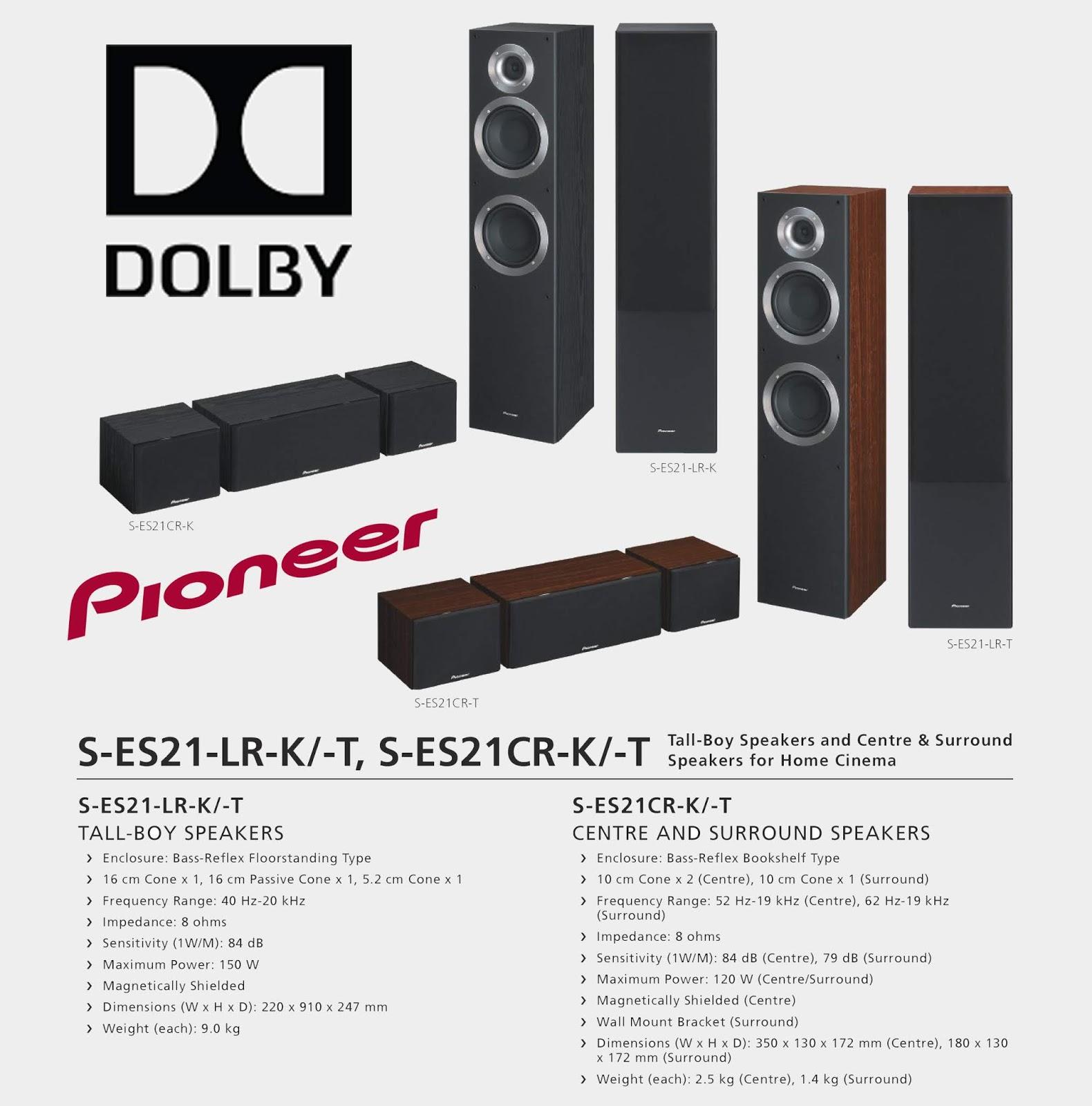 S-ES21-LR-K Pioneer Home Theater Speakers - 5 0 - PIONEER
