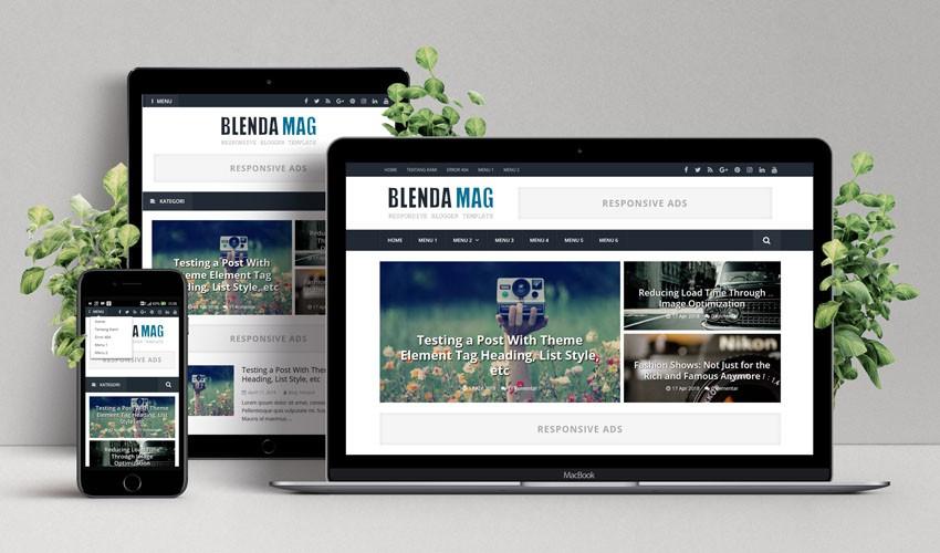 Blenda Mag, Template Premium Pertama dari Levatra Blog