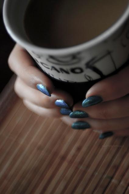 paznokcie | lakier | Semilac | hybrydy | manicure hybrydowy | green glass | kawa