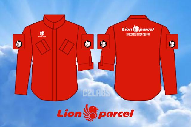 Kemeja Lion Parcel Kerah Sanghai Bordir Komputer Bahan Nagata Drill