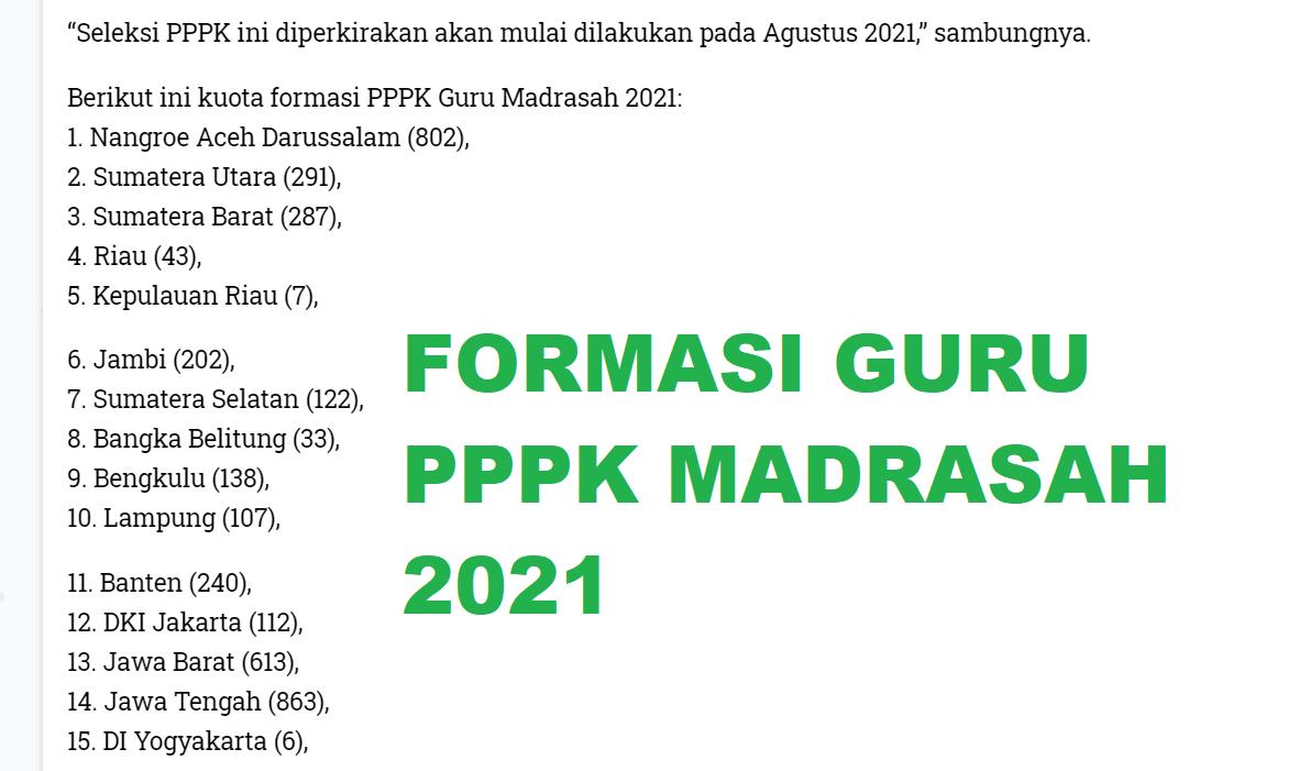 gambar formasi pppk guru madrasah 2021