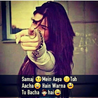 Whatsapp DP Attitude in Hindi for Girls