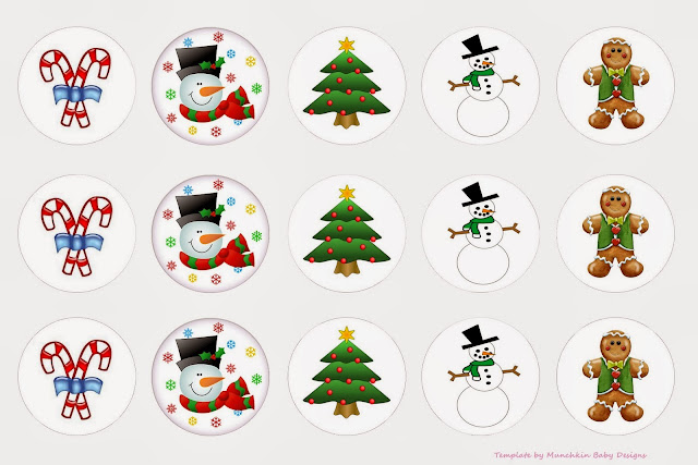 Navidad: Toppers o Etiquetas para Imprimir Gratis. | Ideas y ...