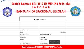 Contoh Laporan BOS 2017 SD SMP SMA Sederajat