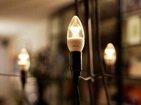 Instalaciones eléctricas residenciales - Lámpara LED tipo flama